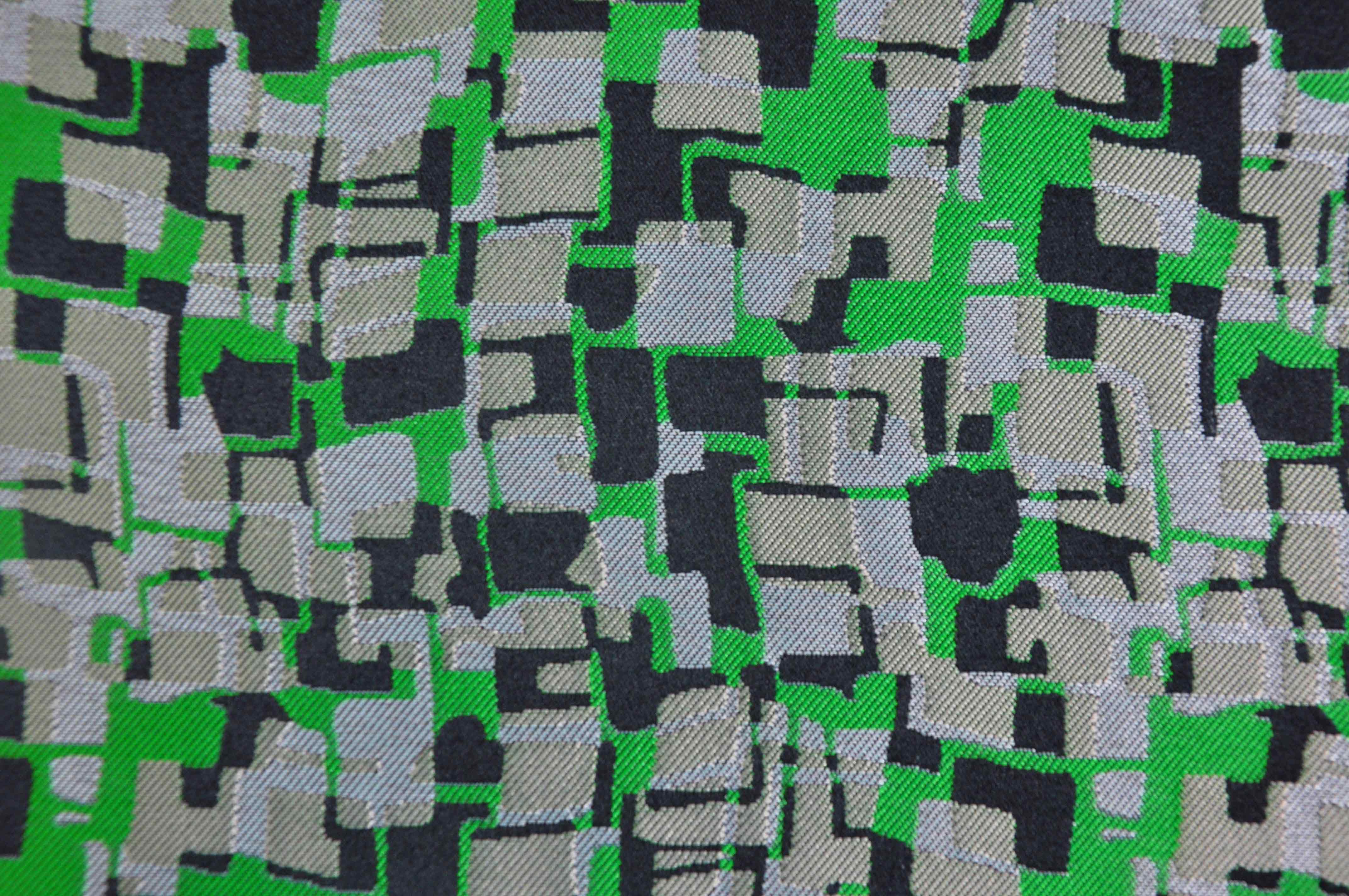 线型交织油画布DS8088提花面料