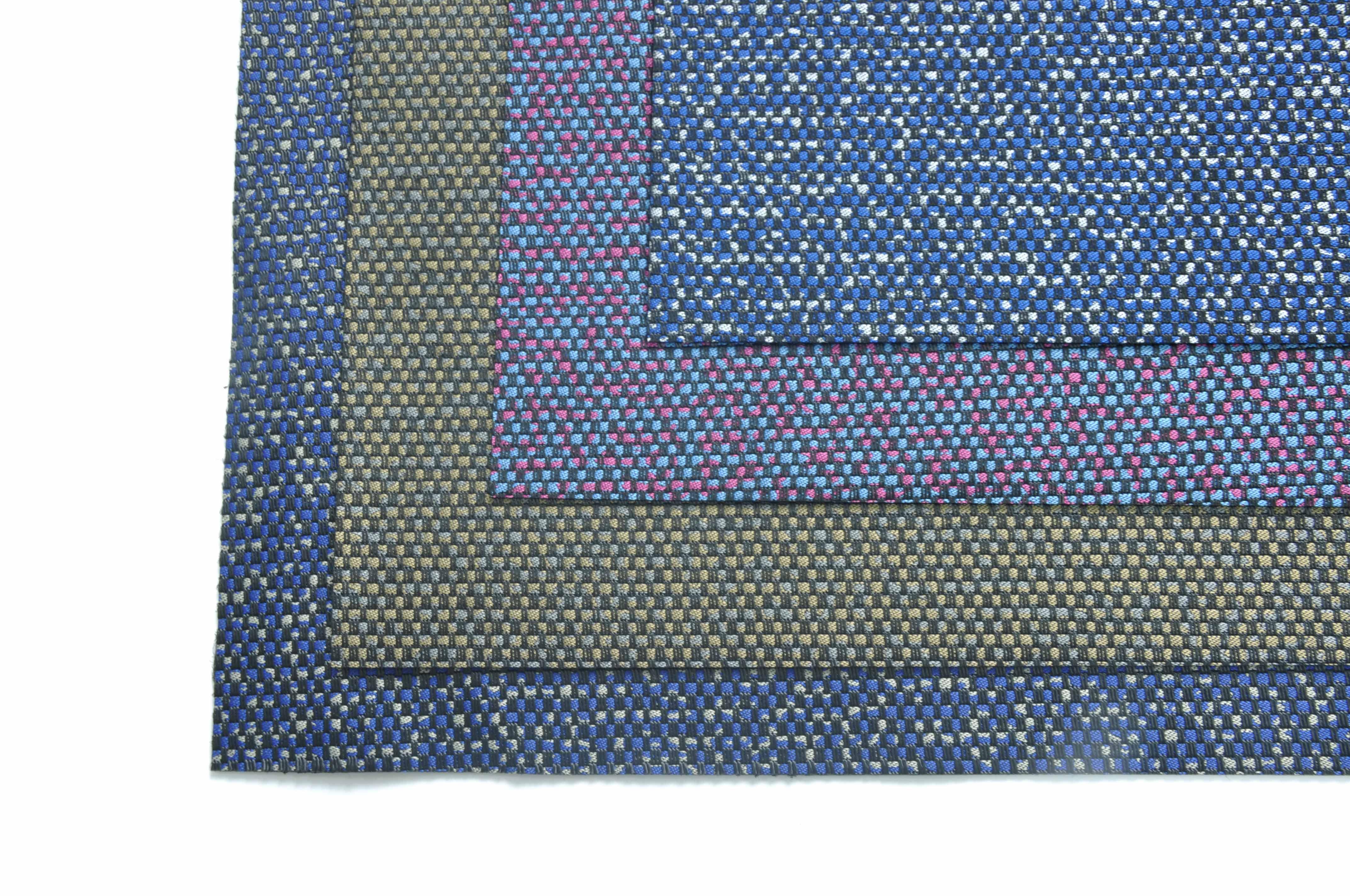 单双线铁锈纹DS8048提花面料